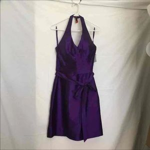 SZ 12 Angelina Faccenda Purple Formal Dress